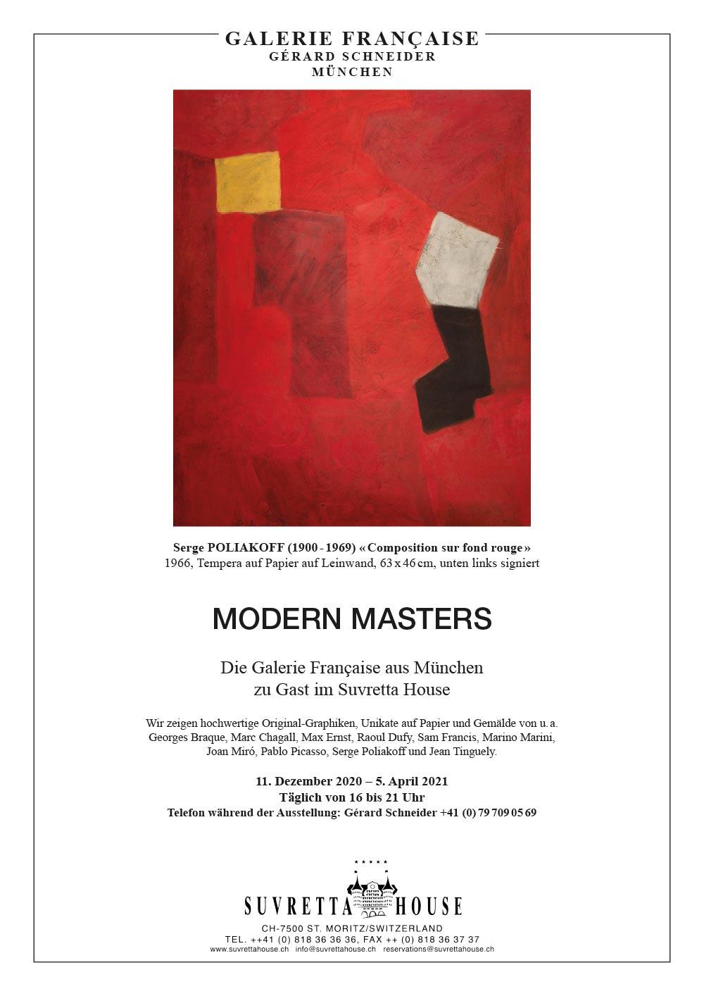 Ausstellungen Modern Masters Suvretta House St. Moritz