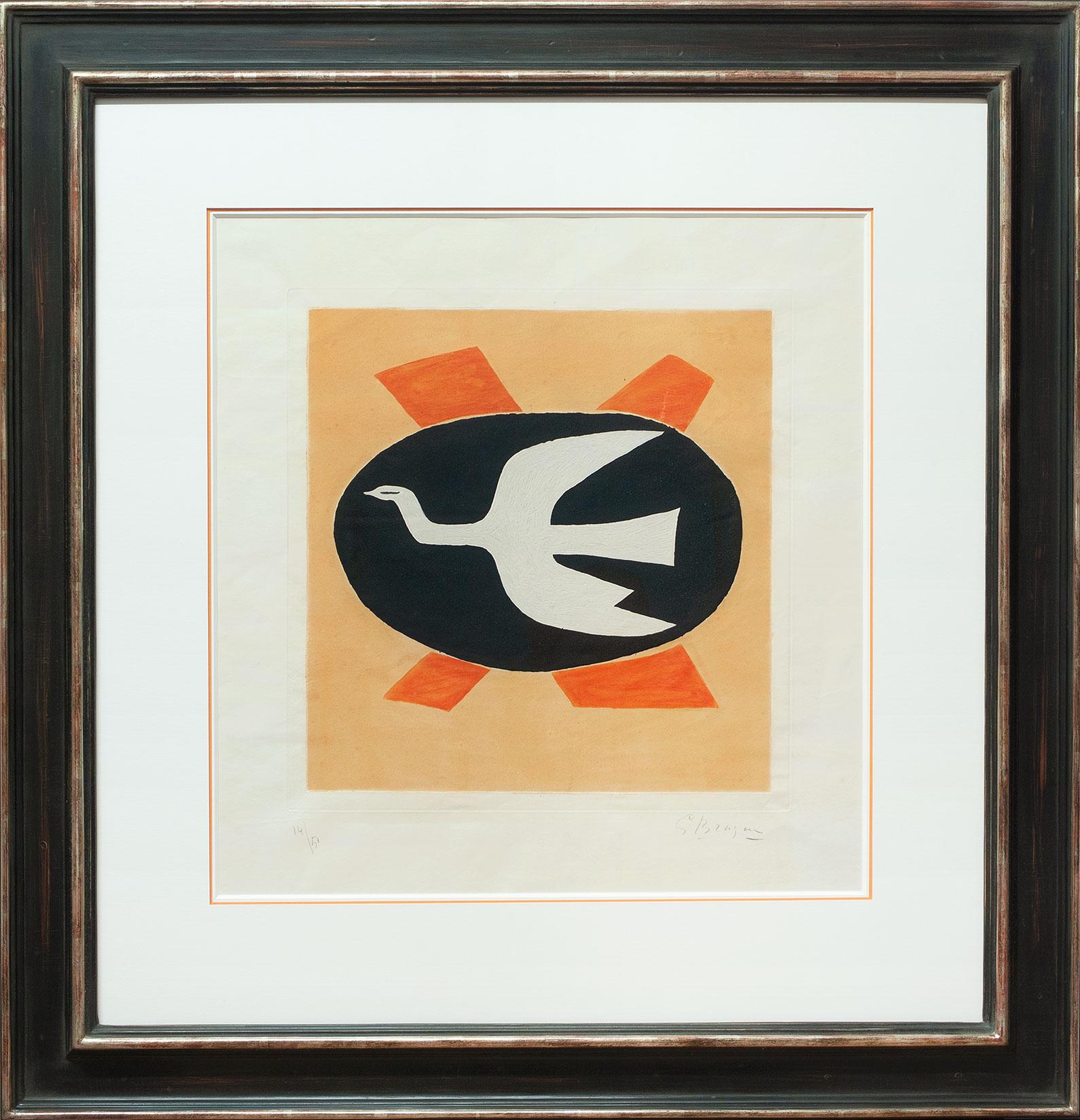 Georges Braque « L'oiseau de feu » Galerie Française