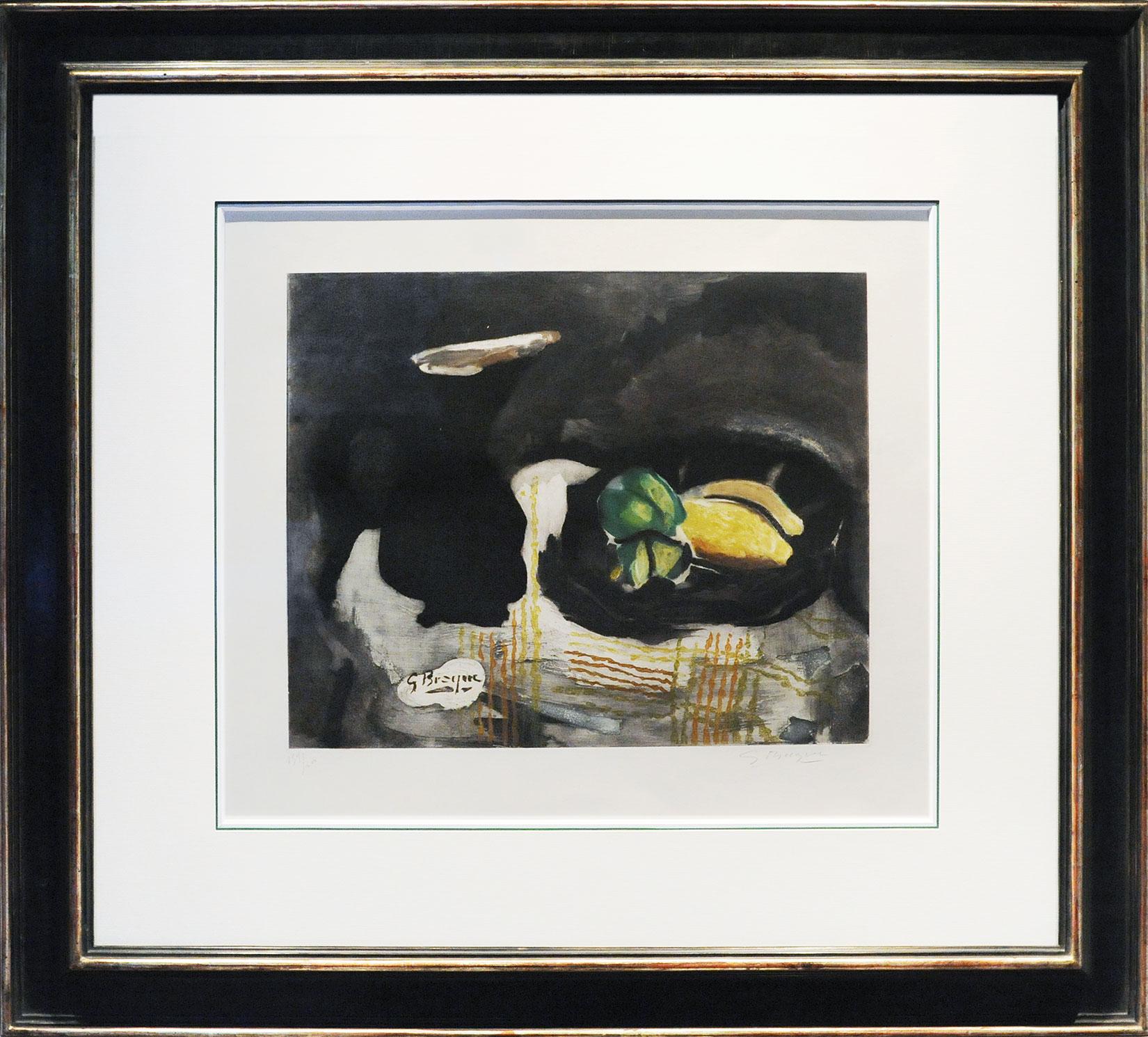 Georges Braque « Pichet noir et citrons » Galerie Française