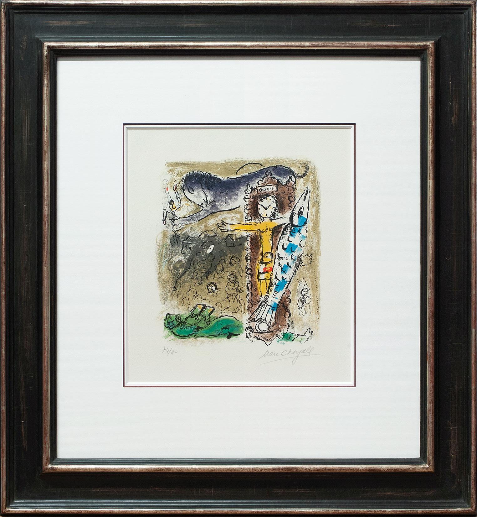 Marc Chagall « Le Christ à l'horloge » Galerie Française