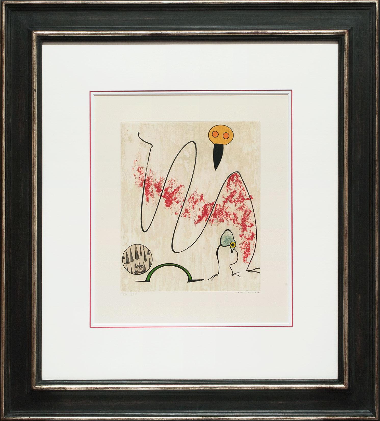 Max Ernst « L'oiseau en péril I » Galerie Française