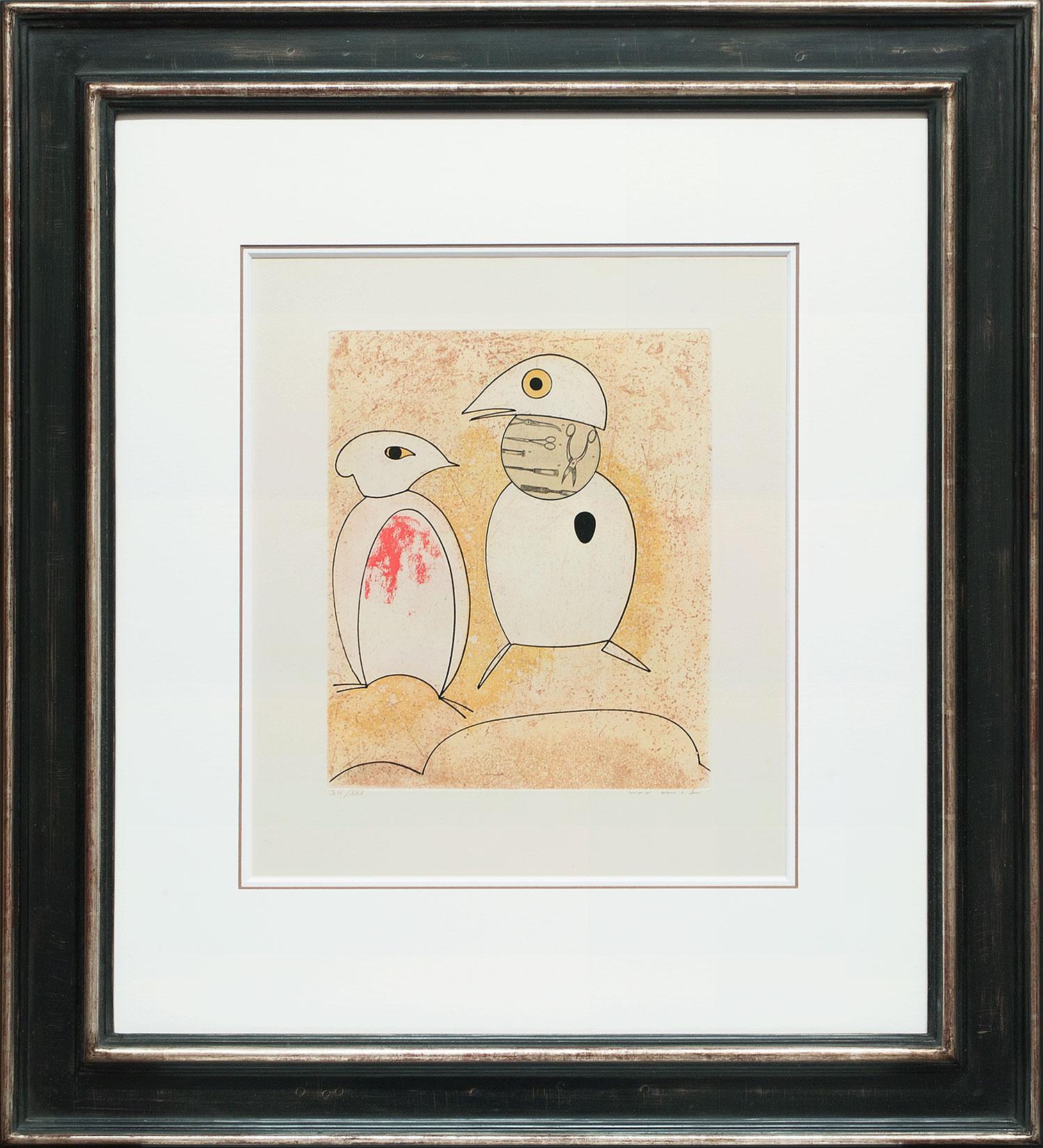 Max Ernst « L'oiseau en péril III » Galerie Française