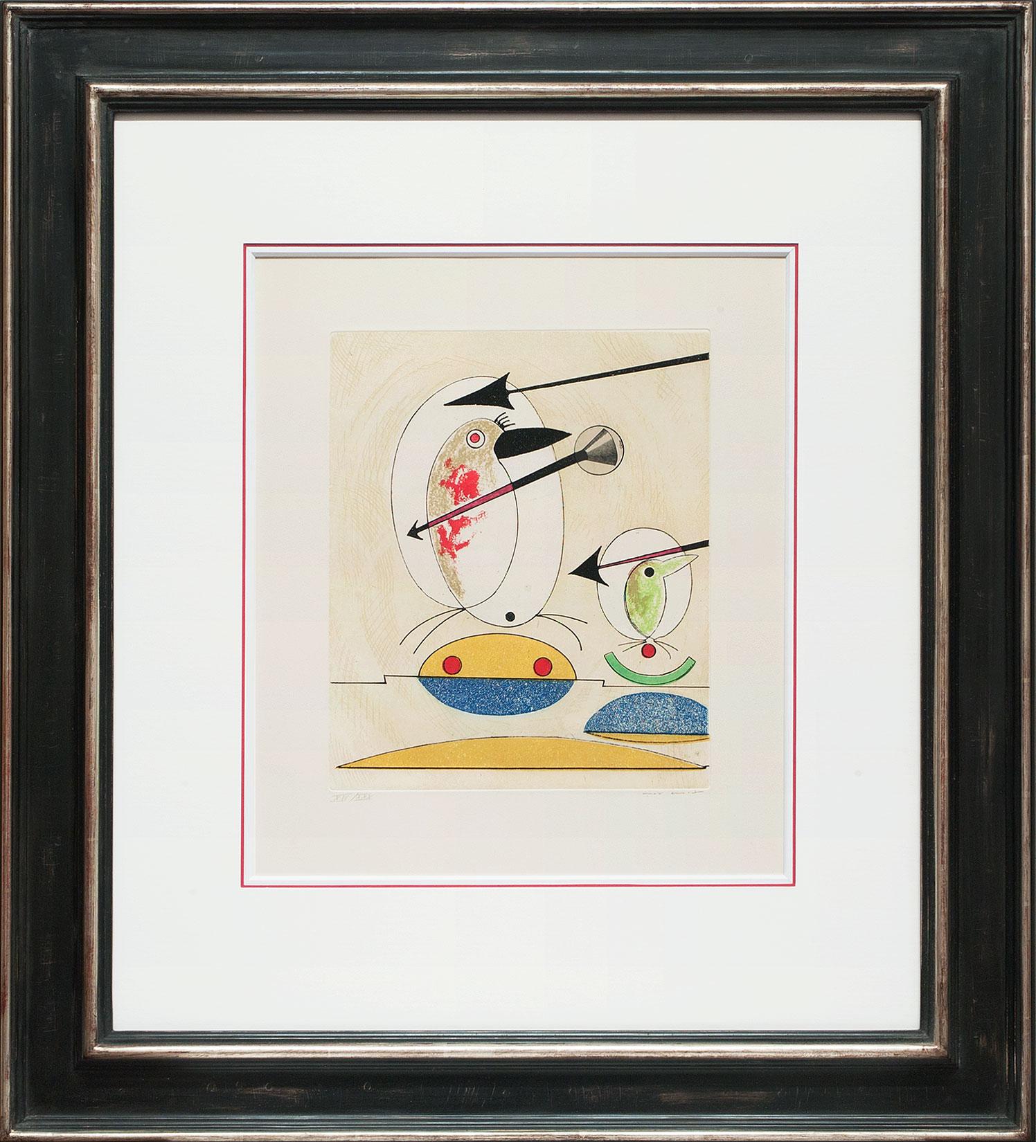 Max Ernst « L'oiseau en péril IV » Galerie Française