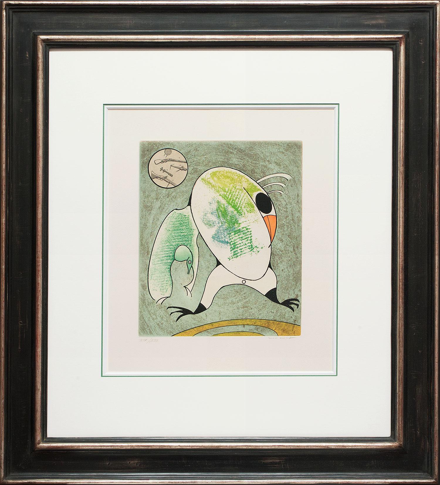 Max Ernst « L'oiseau en péril V » Galerie Française