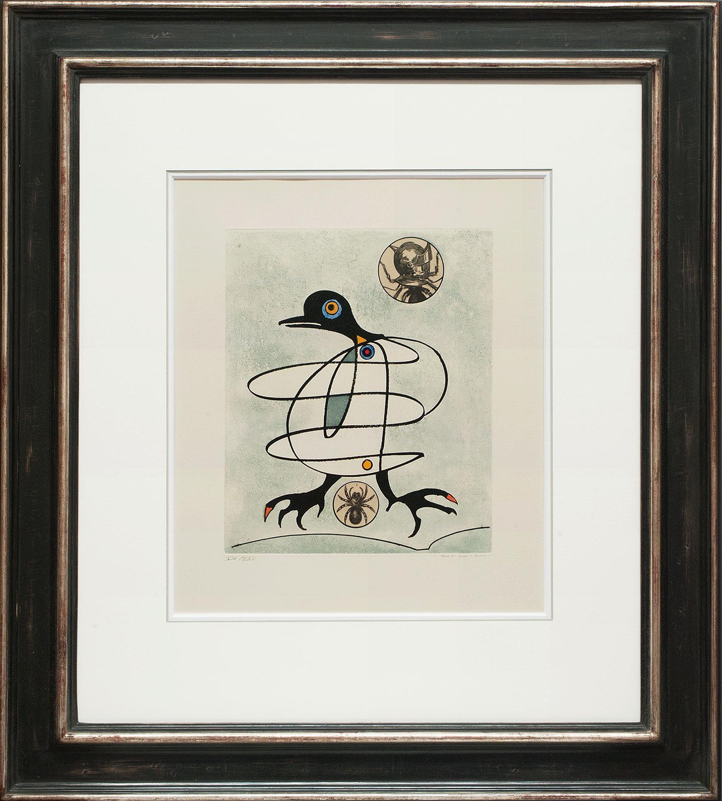 Max Ernst « L'oiseau en péril VII » Galerie Française