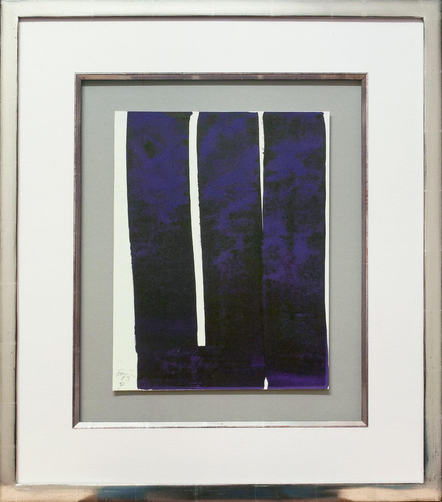 Günther Förg « Composition blau » Galerie Française