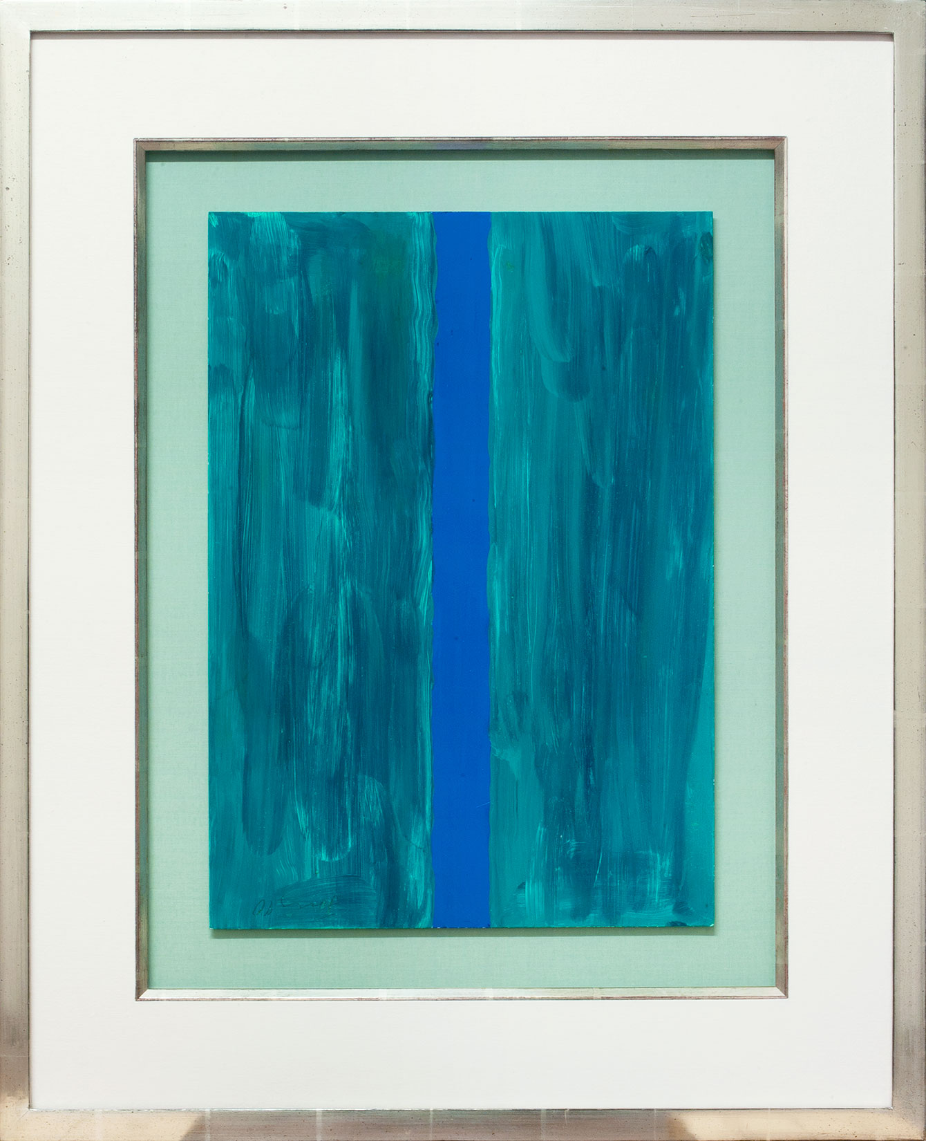 Günther Förg « Composition grün blau » Galerie Française