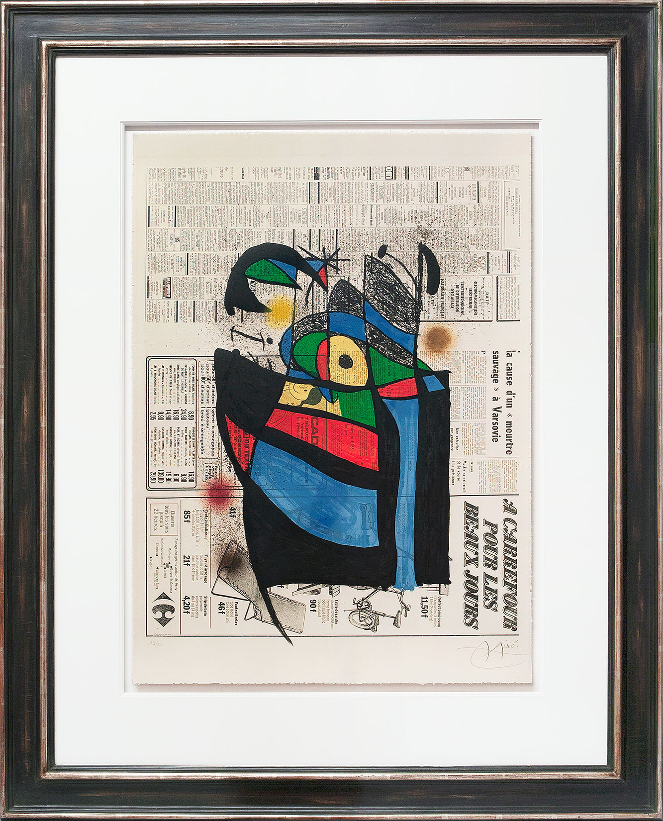 Joan Miró « Le Journal » Galerie Française