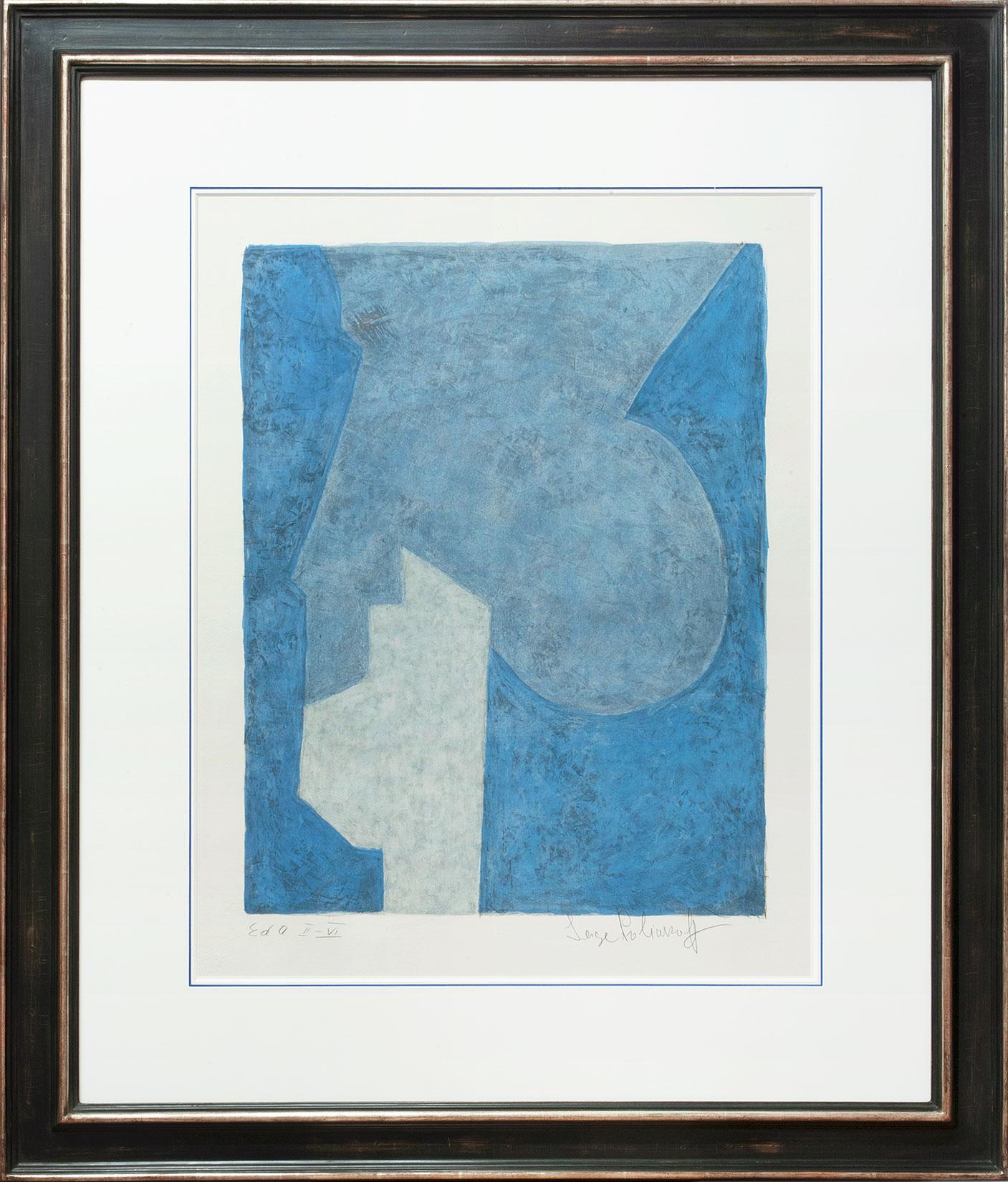 Serge Poliakoff « Composition bleu » Galerie Française