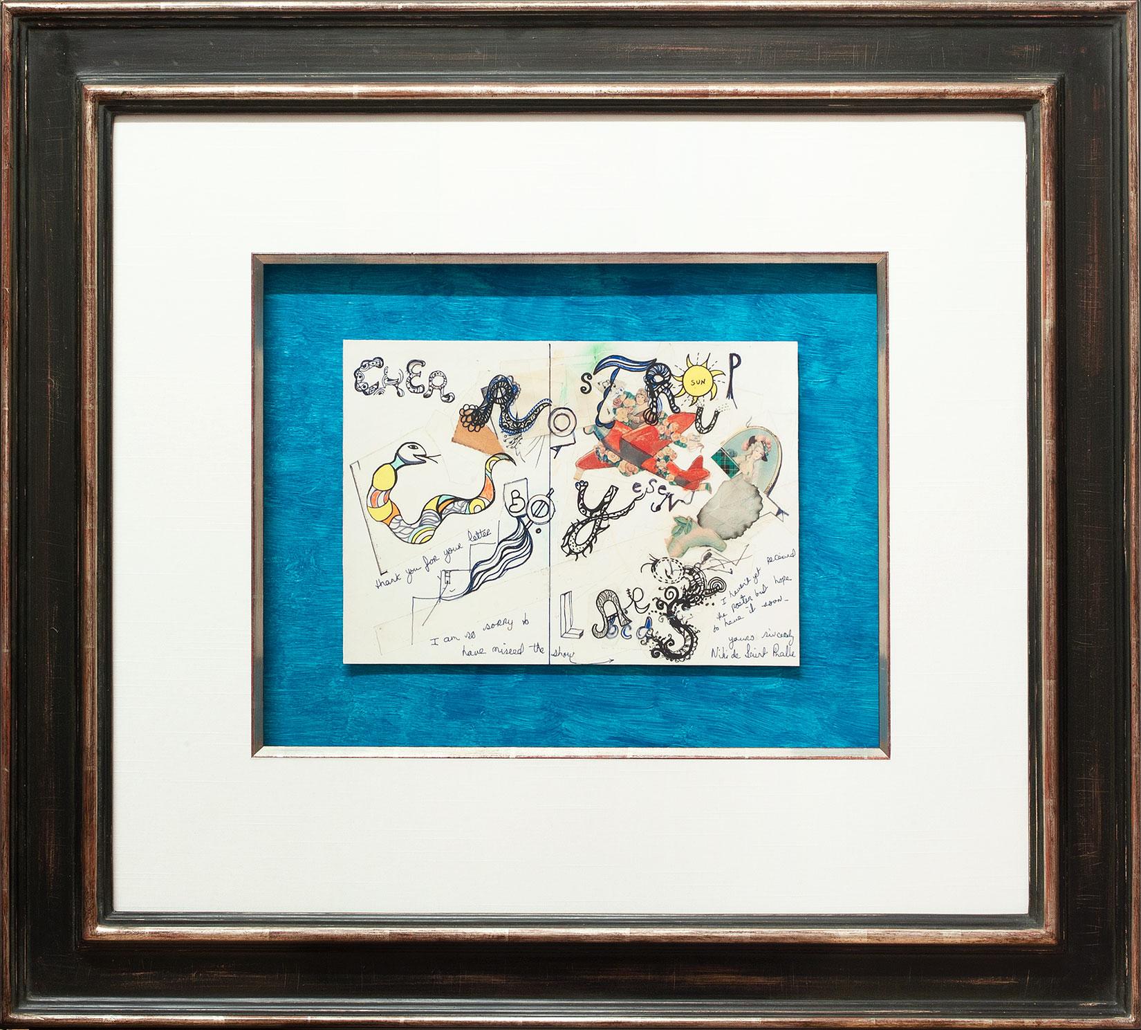 Niki de Saint-Phalle « Cher Lars Rostrup » Galerie Française
