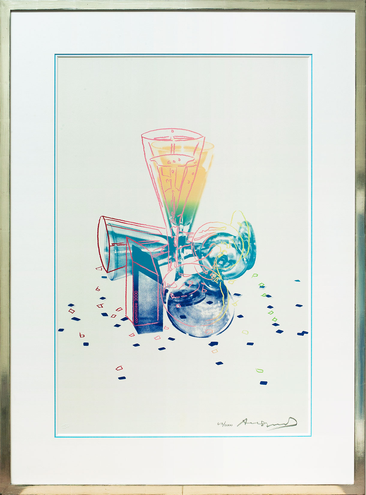 Andy Warhol « Champagner 2000 » Galerie Française