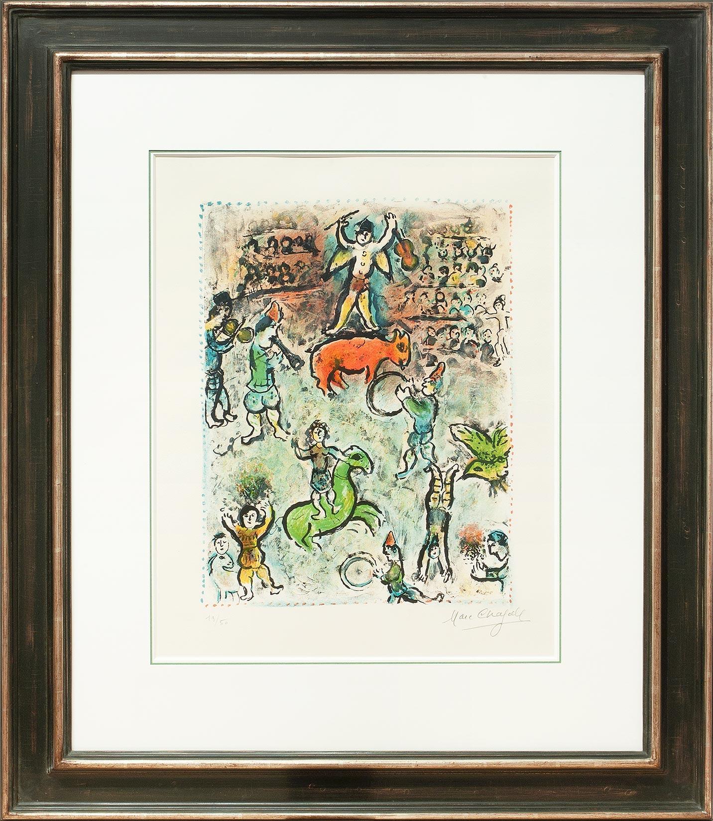 Marc Chagall « Parade au cirque » Galerie Française