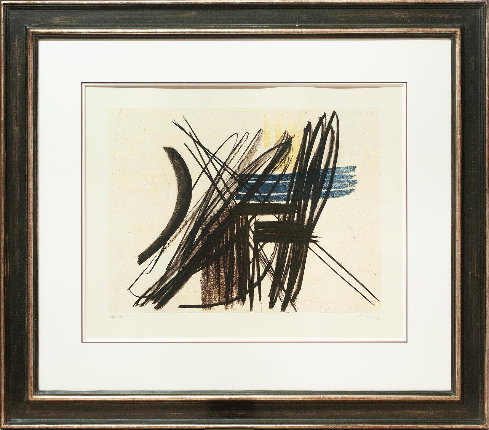 Hans Hartung « Composition 1 » Galerie Française