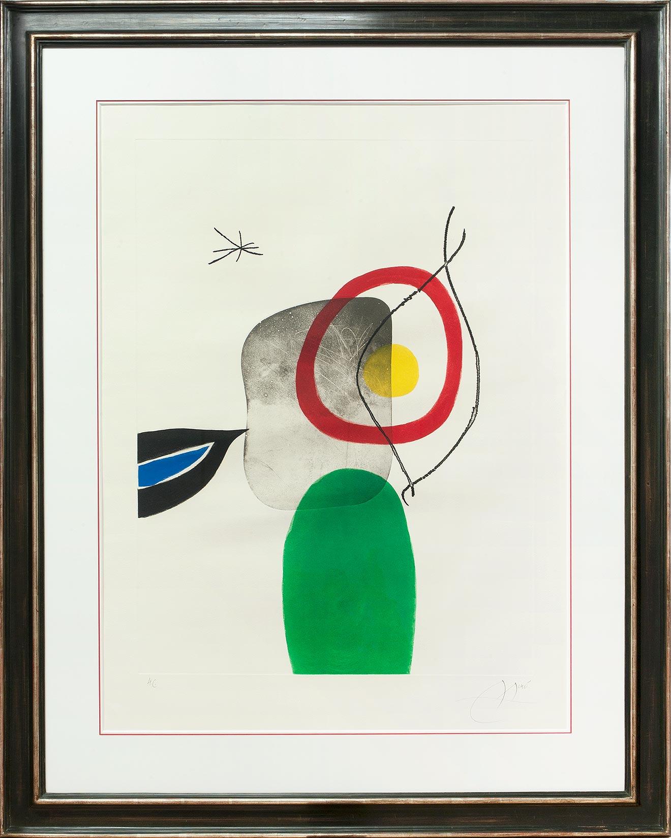 Joan Miró « Tir à l'arc » Galerie Française
