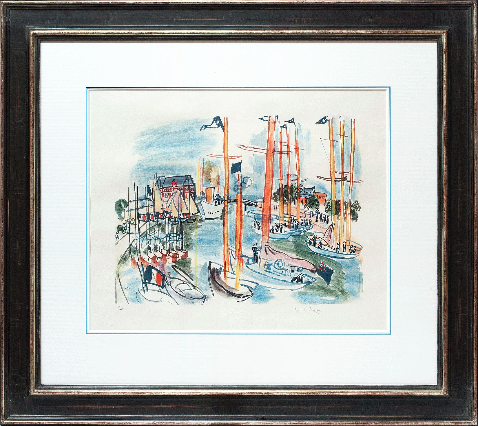 Raoul Dufy «Le port de Trouville» Galerie Française