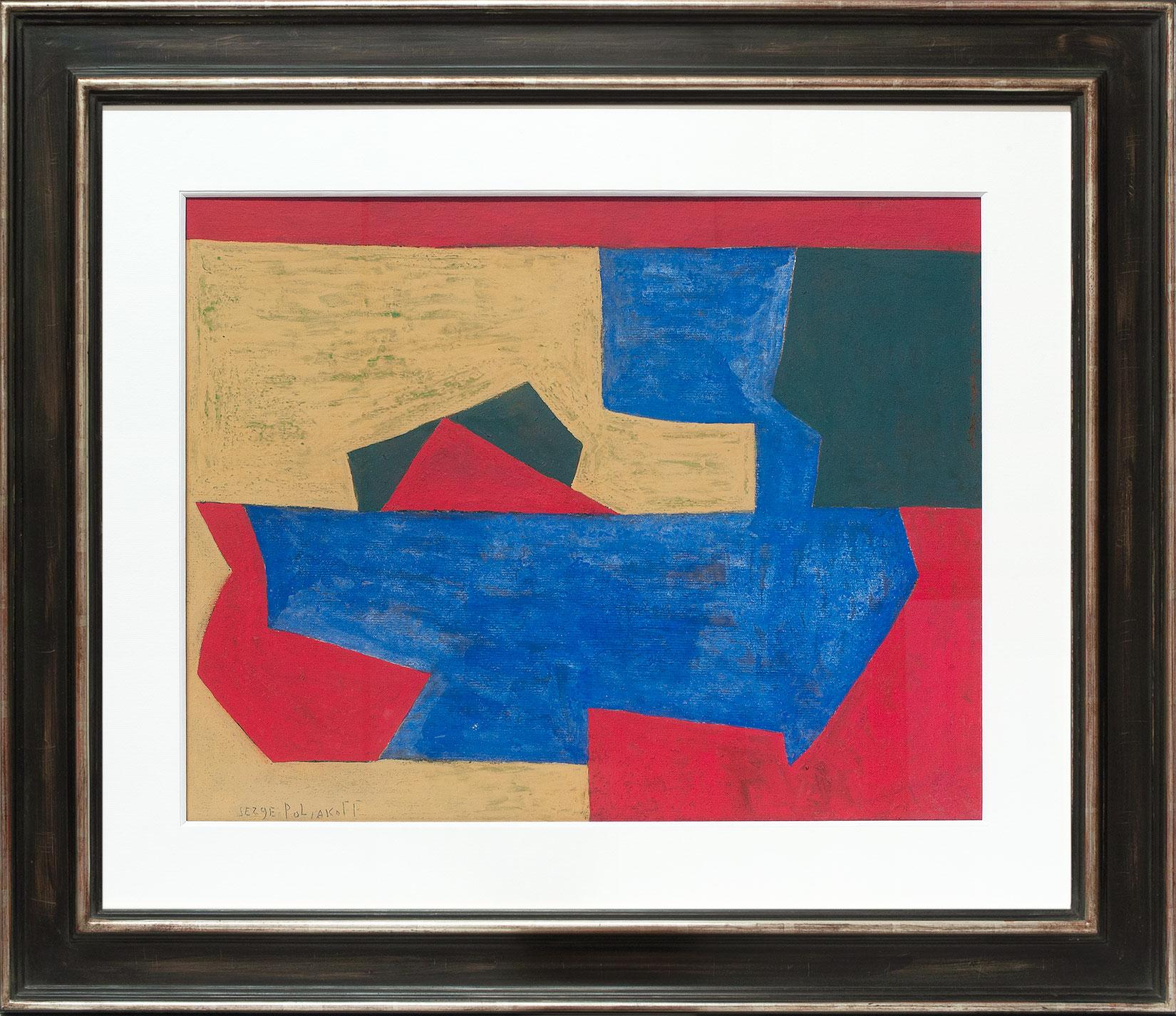 Serge Poliakoff «Composition abstraite» Galerie Française