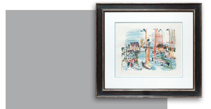 Raoul Dufy, Le port de Trouville