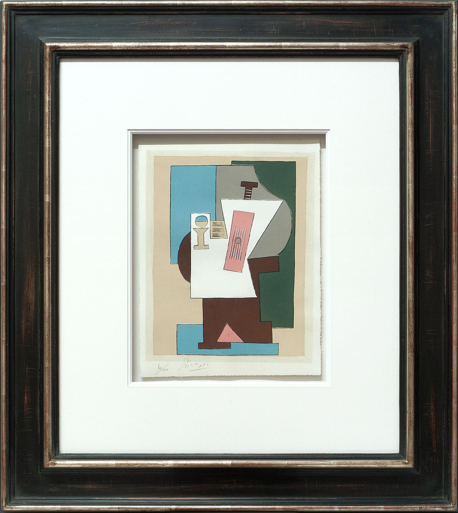 Pablo Picasso «Guitare et partition I» Galerie Française