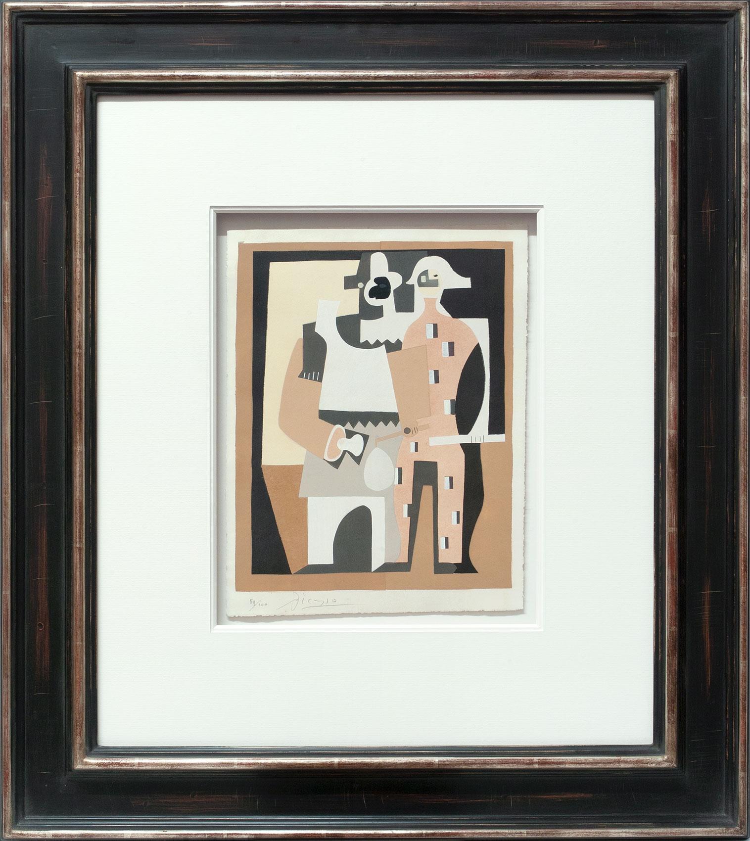Pablo Picasso «Guéridon, guitare et partition I» Galerie Française