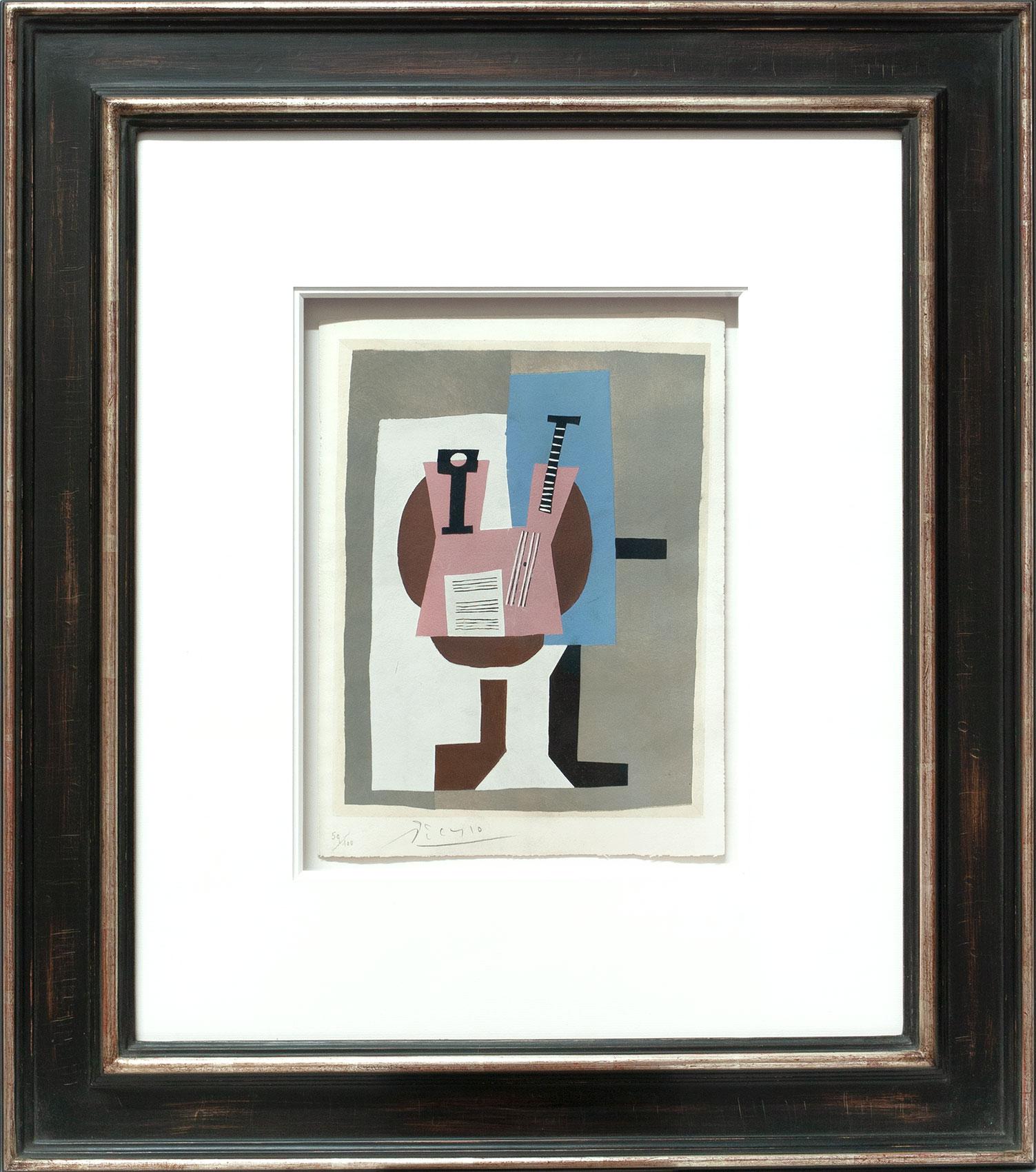 Pablo Picasso «Guitare et partition» Galerie Française
