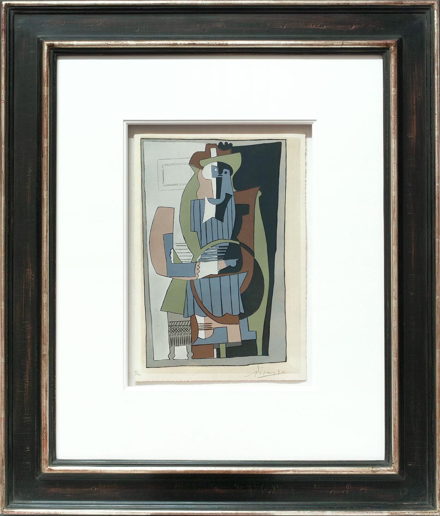 Pablo Picasso «Arlequin et guitare» Galerie Française