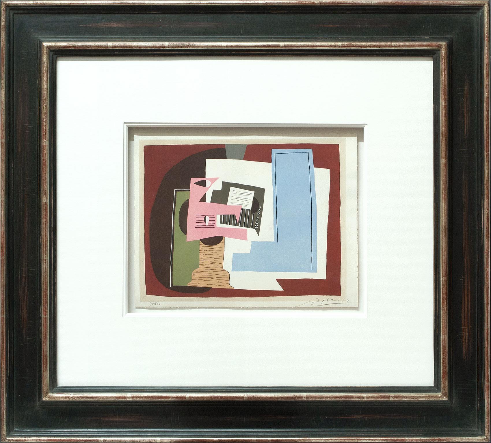 Pablo Picasso «Nature morte à la guitare» Galerie Française