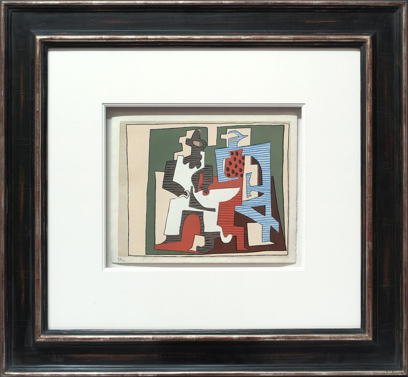 Pablo Picasso «Deux arlequins» Galerie Française