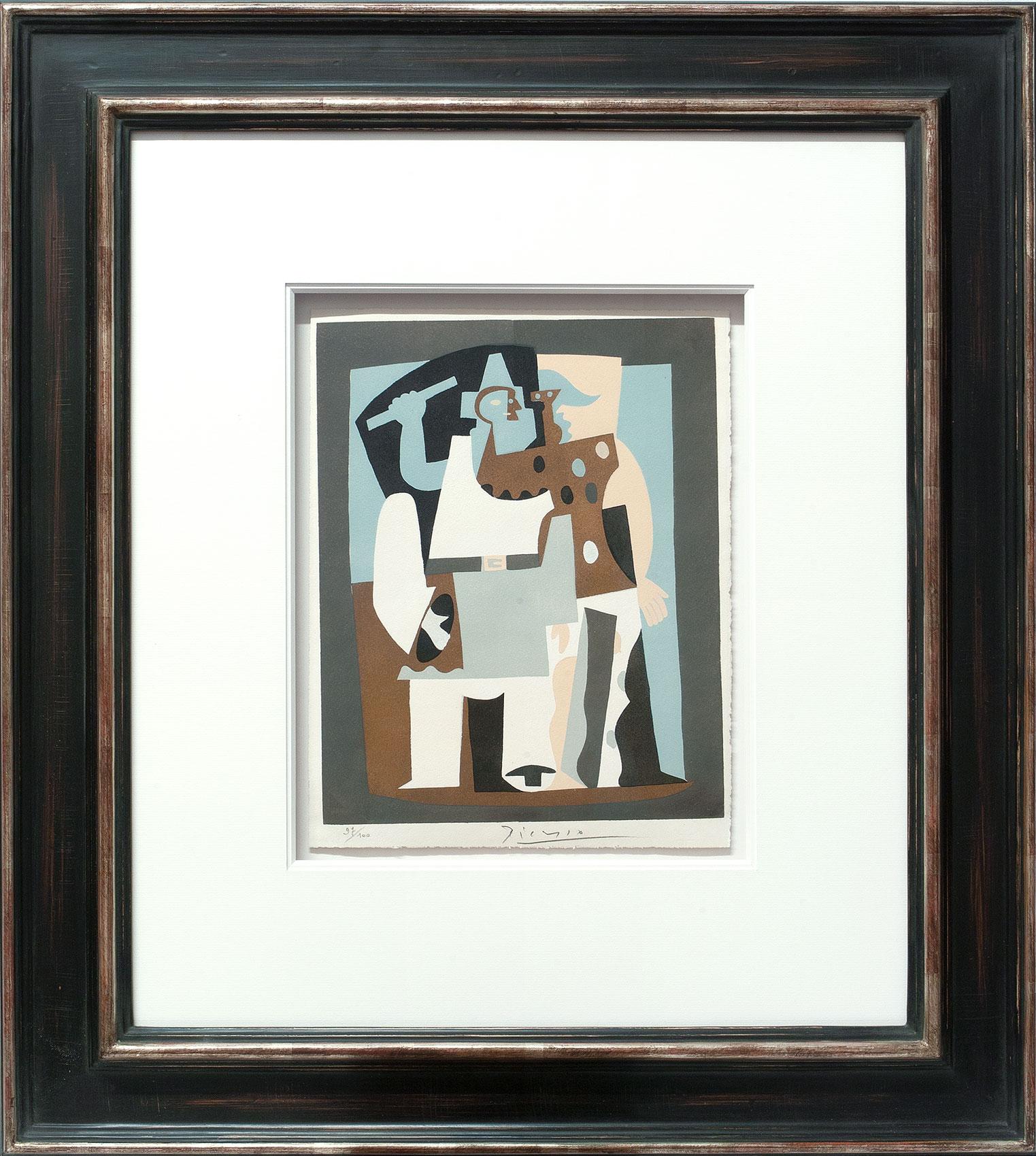 Pablo Picasso «Pierrot et arlequin II» Galerie Française