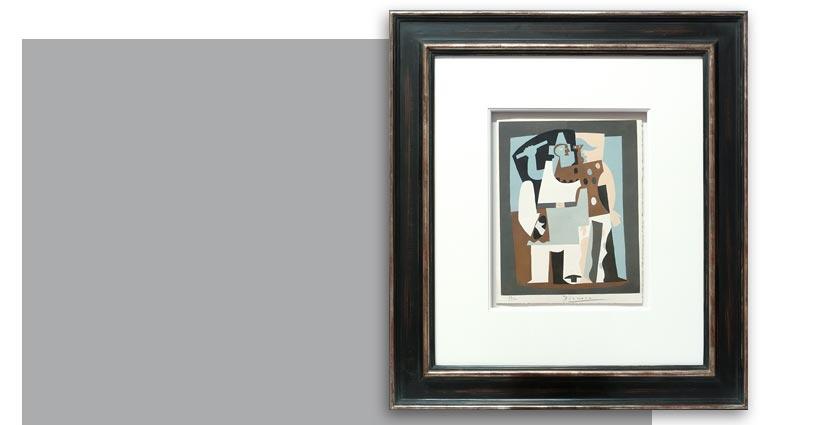 Pablo Picasso, Pierrot et arlequin II, Galerie Française