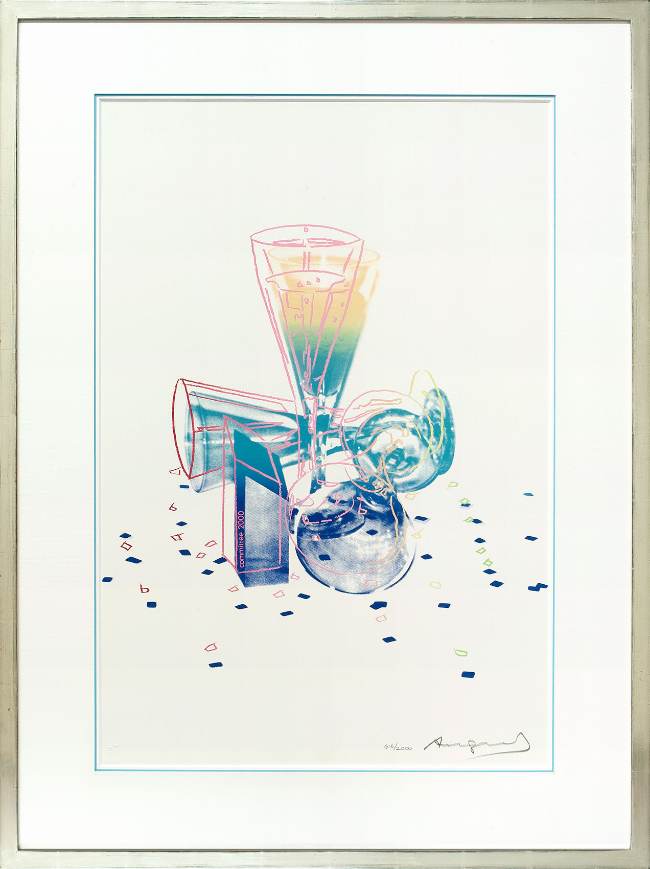 Andy Warhol, Champagner 2000, Galerie Française