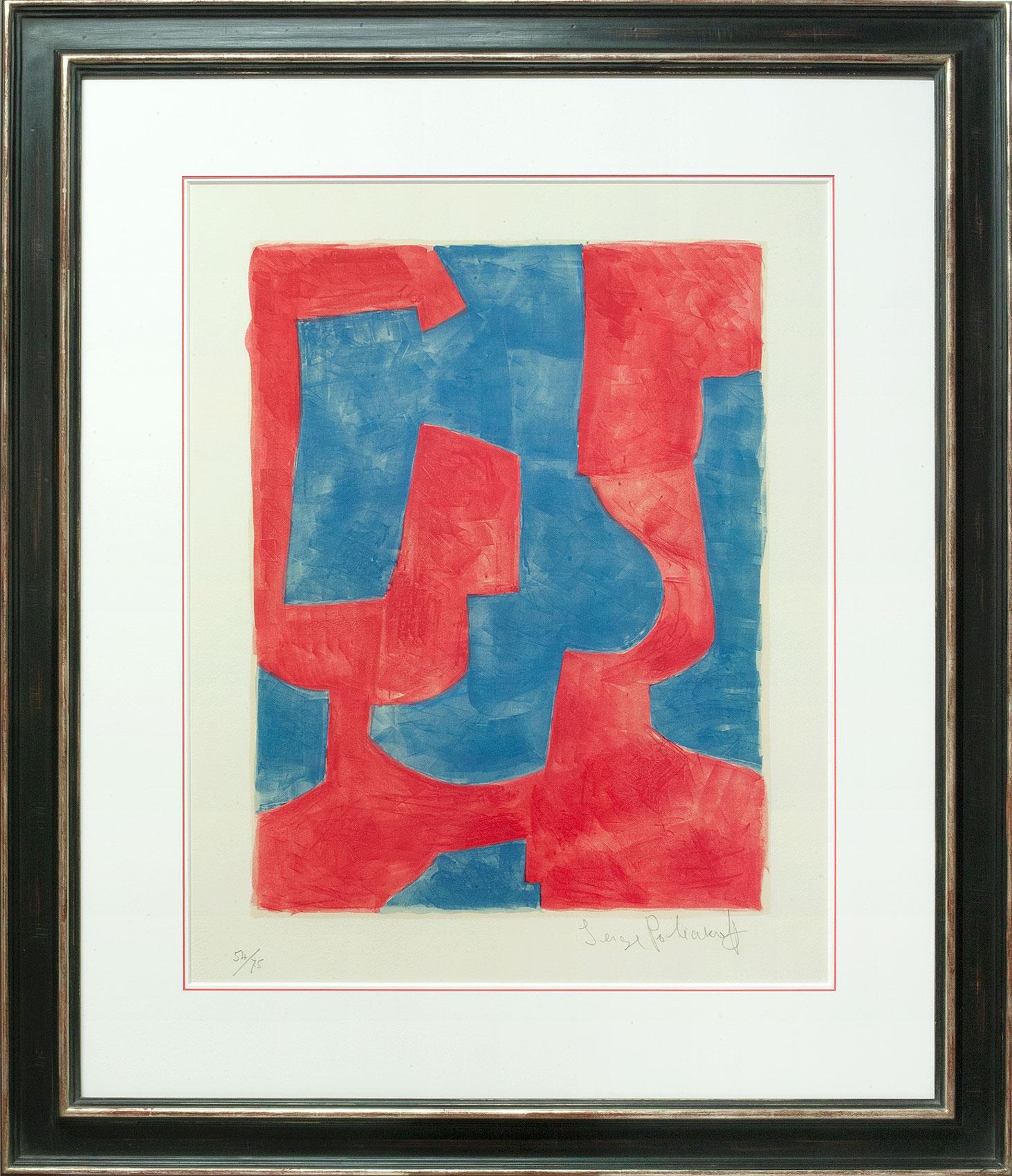 Serge Poliakoff, Composition bleue et rouge, Galerie Française