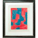 Composition bleue et rouge