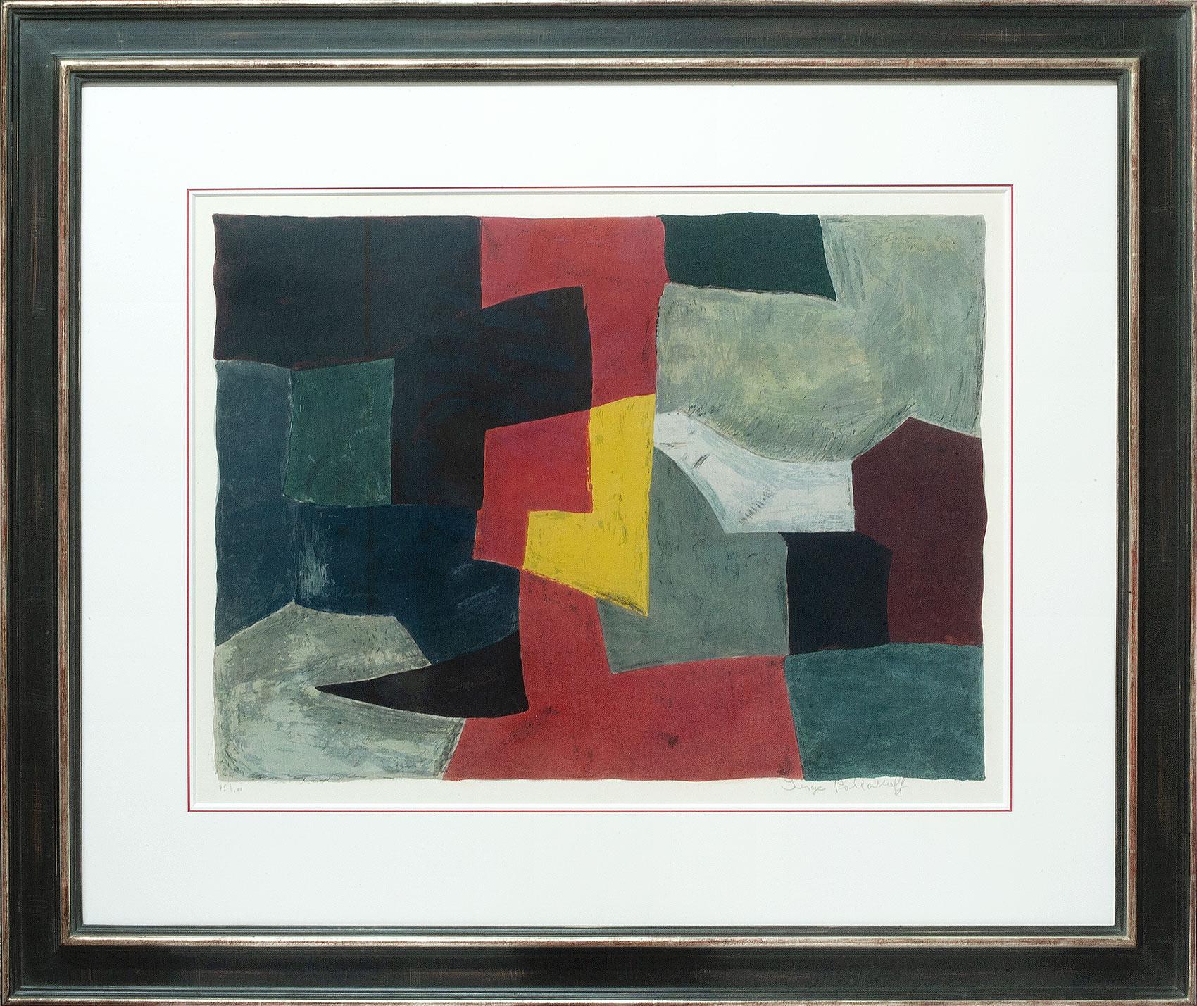 Serge Poliakoff, Composition grise rouge et jaune, Galerie Française