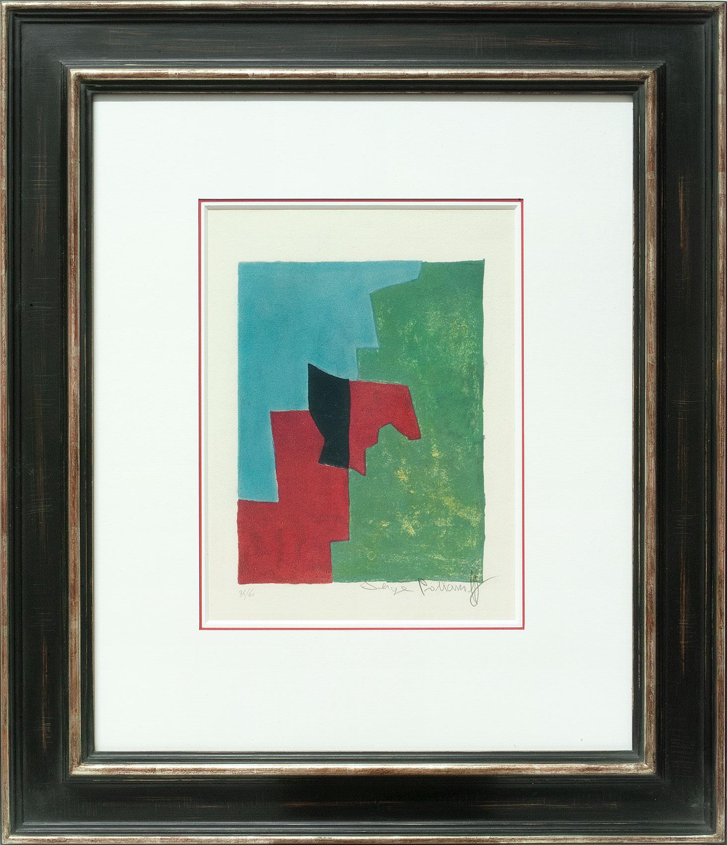 Serge Poliakoff, Composition rouge, verte et bleue, Galerie Française