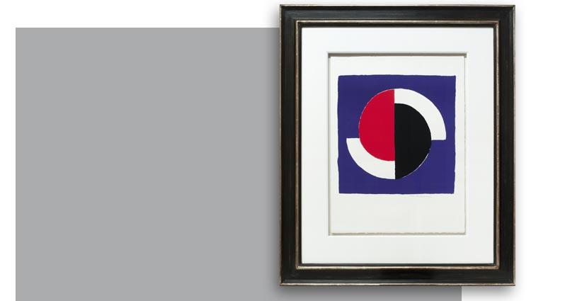Sonia Delaunay, Cercles rouge et noir, Galerie Française